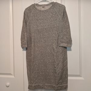 J Crew Gray Sweater Dress